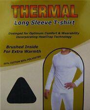Hombre Paquete De Dos BUENA CALIDAD Manga Larga Térmico Camiseta Ropa Interior
