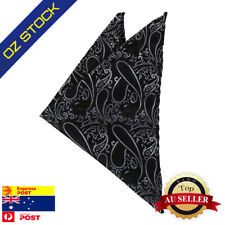 Black Men Silk Blend Handkerchief Gift Paisley Hanky Handmade Dan Smith DEE7B02B