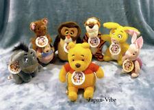 Winnie the Pooh - 7x plushes vintage 80' Sun and Star JAPAN plush full set rare