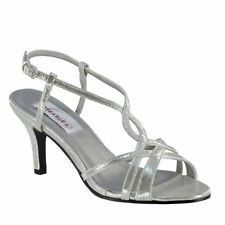 Faux Leather Standard Width (B) Bridal Shoes