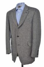 Arnys Paris Gray Herringbone Tweed 100% Wool Blazer Sport Coat Jacket - 44 R