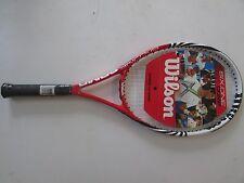 "NEW! Wilson Six.One Comp Tennis Racket! Racquet 4 1/2"" WRT32740U4 Red White"