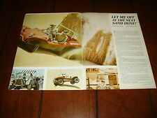 1966 MEYERS MANX DUNE BUGGY SAND DUNES JEEP  ***ORIGINAL VINTAGE ARTICLE***