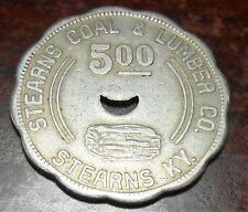 Coal & Lumber Scrip Token $5.00 Stearns C&L-Stearns-KY-McCreary County -1948