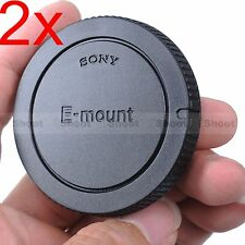 2x Finely-made Body Cover Cap for Sony NEX-7 NEX-6 QX1 E-mount Micro SLR Camera