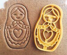 "Сookie cutter ""Matryoshka"" russian doll cookiecutter cookies custom"