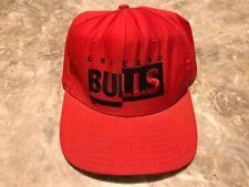Vintage 90s Chicago Bulls Spell-Out Script Split Color Adjustable SnapBack Hat
