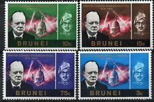 BRUNEI/1966/MH/SC#120-123/CHURCHIL MEMORIAL ISSUE