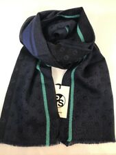 Paul Smith Men Scarf Wool Logo Spot Made In Italy Navy