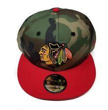 Chicago Blackhawks New Era 9Fifty Army Camo 2 Tone Snapback Hat Cap Hat NHL