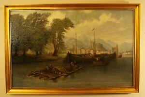 North Italian River Scene 18th Century unsigned
