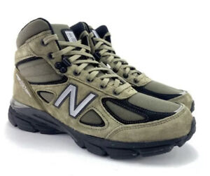New Balance 990V4 MO990FL4 Made In USA Mid Olive Green Army Suede Boot Size 10