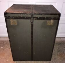 """Huge 40"""" Tall Antique German Gregor Hofbauer Steamer Trunk, EXC COND In & Out!"""