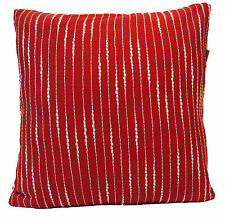 "Red White Stripe Cushion Covers 16"" 40cm Sofa Scatter Soft Cotton Washable"