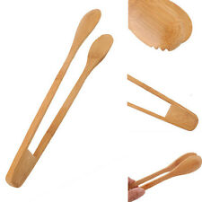 New listing Toast Cooking Tong Bamboo Kitchen Tool Bread Heat Utensil Food Clip Baking~