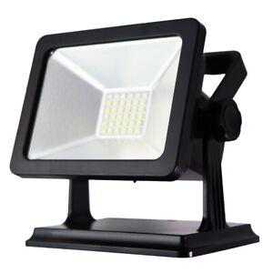30-Watt 34-LED Emergency Light with Red/Blue Flasher - Black GRADE A