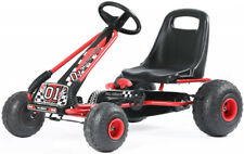 Kids Seat Adjustable Go Kart Outdoor Racer 4 Wheel Pedal Powered Ride On Car Red