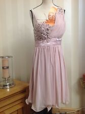 Quiz  pink Embellished sequin beads Dress Great For Xmas Party's 14 TAG £49