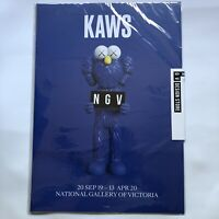 KAWS NGV National Gallery Of Victoria Posters Blue BFF Brand New