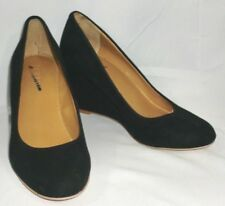 Womens J. Crew Facoty Sylvia Black Suede Wedge Heels Size 5 ~ NEVER USED #C9922