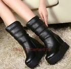 Womens-Snow-Boots-Platform-Hidden-Heel-Platform-Mid-Calf-Boots-Winter-Shoes-MOON