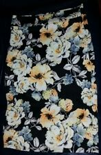 42POPS. Black & Yellow Floral Pencil Skirt - Plus Too