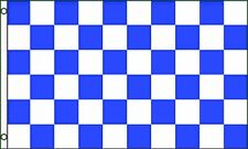 Blue & White Checkered Flag 3x5 ft Checker Checkerboard Pattern Banner Sign