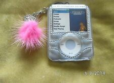 IXOS Clear Plastic Diamante Case with charm for ipod nano 3rd gen & Lanyard  UK