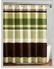 Green Stripes fabric Shower Curtain