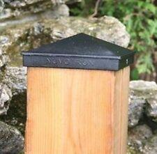 "Nuvo Iron 5.5""x 5.5"" (nominal 6""x6"") Pyramid Ornamental Aluminium Post Cap Black"