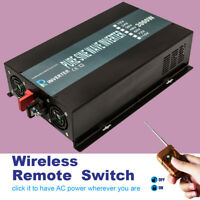 DC to AC Power Inverter 3000W Pure Sine Wave 36V 240V Remote Control Solar Motor
