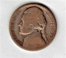 1943 S Jefferson nickels in AVERAGE CIRCULATED condition (  35 %SILVER )