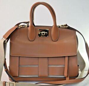 Salvatore Ferragamo Small Natural Leather Cage Studio Satchel $2900.00 #620