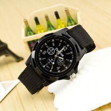 Fashion Women's Men's Sport Watch Braided Canvas Band Analog Quartz Wrist Watch