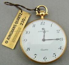 schöne alte Taschenuhr Junghans Quarz vergoldet ca 70er Jahre