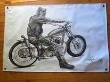 Ned Kelly 3 x 2 foot vinyl print bushranger Aussie outlaw Ned Kelly Australia