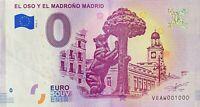 BILLET 0  EURO  EL OSO Y EL MADRONO MADRID ESPAGNE  2018  NUMERO 1000