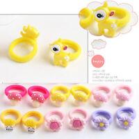 10Pcs Cartoon Candy Color Baby Girl Elastic Hair Ties Band Rope Ponytail Decor