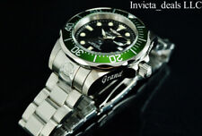 Invicta Men's 47mm GRAND DIVER Automatic Black Dial Green Bezel SS 300M Watch