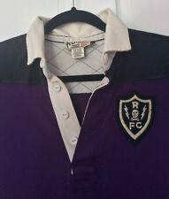 Rugby Ralph Lauren Small Dress Purple Black Skull Cookie Elbow Patches