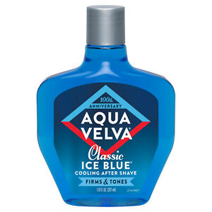 Aqua Velva Classic Ice Blue Cooling After Shave Firms and Tones Skin 7 Oz.