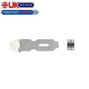 "4"" SMALL/LARGE HASP & STAPLE Padlock Latch Security Door Lock #A01"