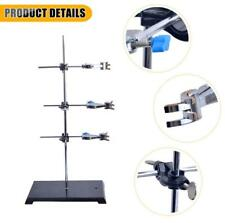 High Quality Lab Support Iron Retort Ring Stand Flask Clamp Stand With 3pcs Ext