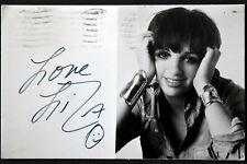 Liza Minnelli Hand Signed Autographed Postcard