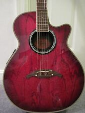 Crafter FX-550 EQ Acoustic Electric Guitar - Trans Red -   --- PRICE REDUCED----