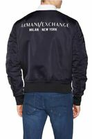 Armani Exchange men's Square Piping detail bomber jacket - Padded