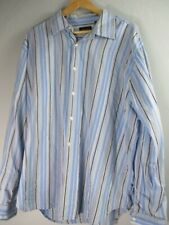No Boundaries Men's Size XL 100% Cotton Striped Long Sleeve Button-Front Shirt