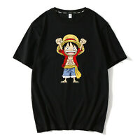 Lover Short Sleeve T-shirt Anime One Piece TShirts Cartoon Tees Cosplay Hip-hop