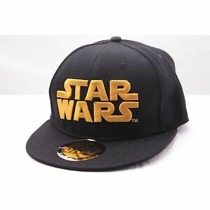 Star Wars Golden Logo Baseball Cap Hip Hop Kappe Mütze Snapback Schwarz Black