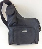 Baggallini Black Nylon Cross-Body Shoulder Bag Handbag Purse Lightweight